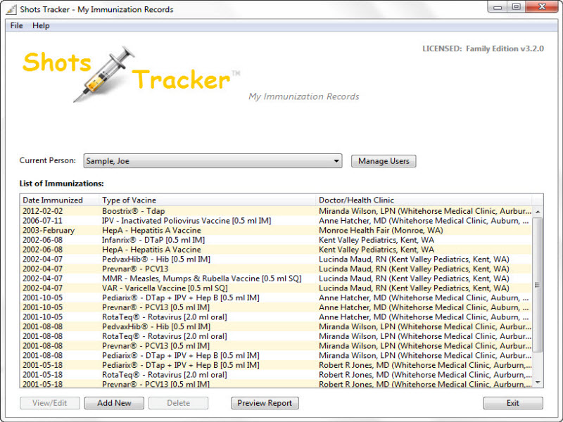 MyImmunizationRecords ShotsTracker screenshot